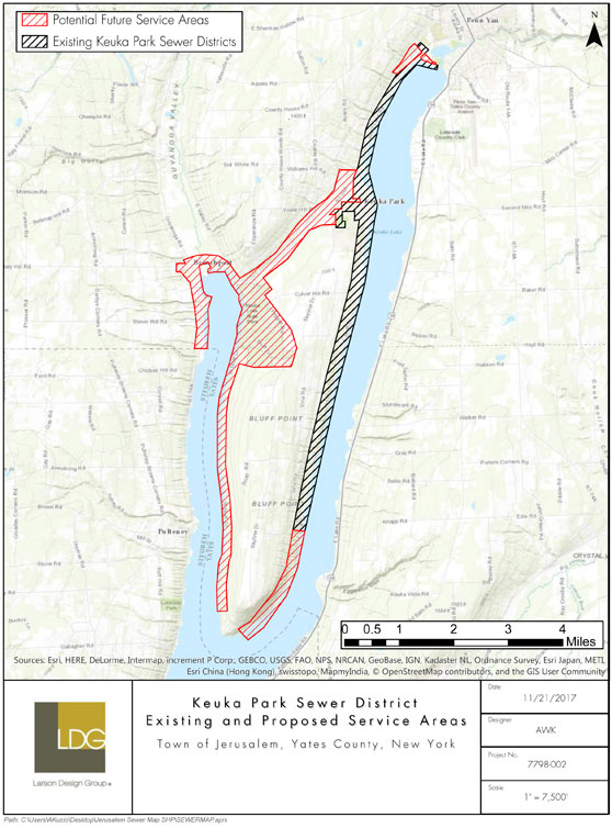 Keuka Park Sewer District Service Area Map